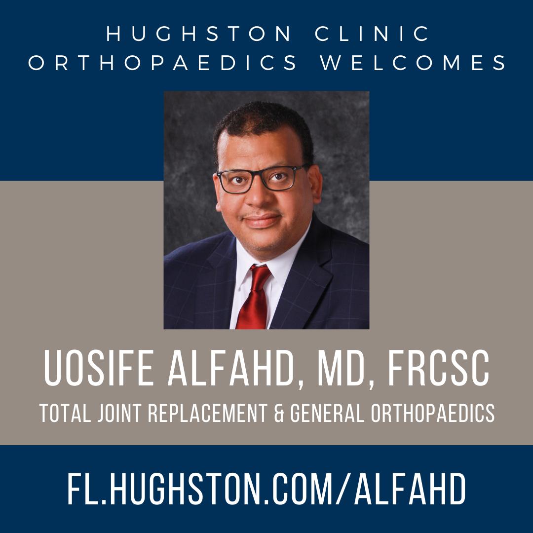 Hughston Clinic welcomes Uosife Alfahd, MD